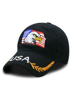 US Pattern Embroidery Sunproof Hat