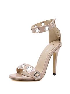 Italy Stiletto Zipper Ladies Sandals