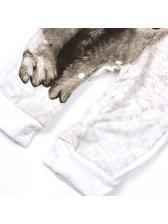Wolf Print Long Sleeve Baby Rompers