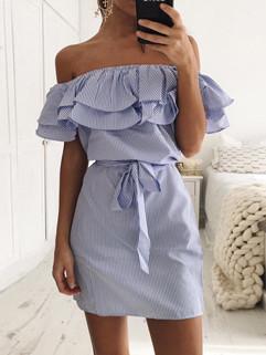 Hot Selling Boat Neck Bandage Mini Dress
