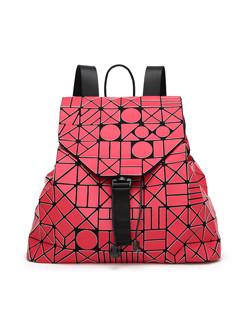 Japan Fashion Geometric Pattern Hasp Backpack