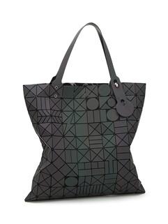 Korean New Geometric Pattern Zipper Women Handle Bag