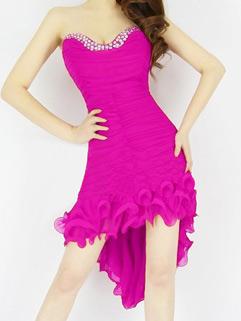 Sexy Off Shoulder V Neck Beading Party Dresses