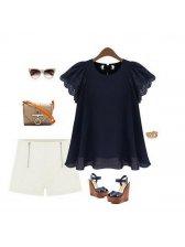 European Style Loose Flare Sleeve Shirts
