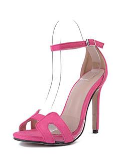 One-buckle Belt Open Toe Stiletto Sandals