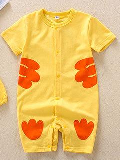 Cute Dark Print Infant Rompers