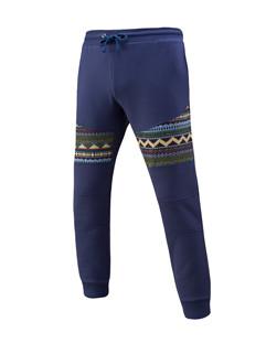 Fashion Solid Special Print Elastic Pants