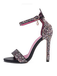 Elegant Sequined Stiletto Sandals