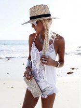 Hot Sale Lace Patchwork Chiffon Tank