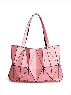 Chic Diamond Geometric Pattern Woman Tote Bag