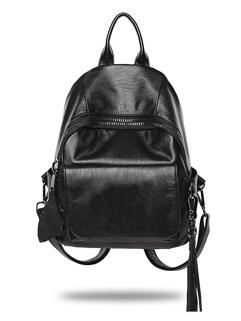 Pretty Soft Tassel Decor Black Backpacks