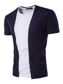 Solid Flimsy Short-sleeved Cardigan