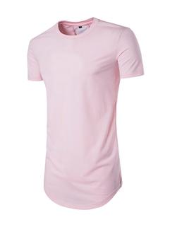 Hip Hop Asymmetrical Hem Long T Shirts
