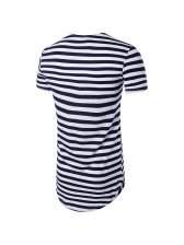 Fashion Stripe Patch Long T Shirts