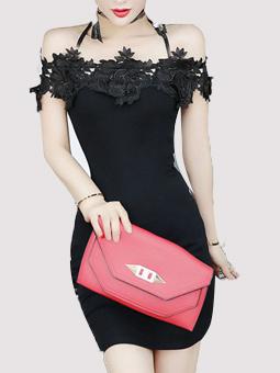 Flower Design Halter Neck Bodycon Dress