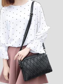 Versatile Rhomboids Zipper Shell Bags