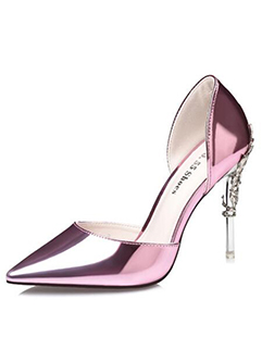 Newest Glossy Pointed Stiletto Pumps