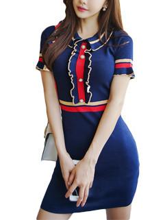 Korean Navy Style Fashion Pencil Dress