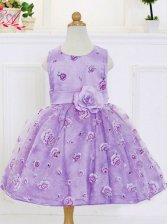 Sweet Fluffy Print Sleeveless Party Dress