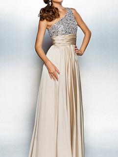 Hot One Shoulder Sequins Floor Length Party Dress