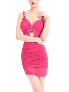 Sexy Low Cut Beading Night Club Dress
