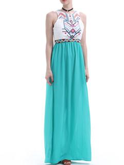 Euro Fashion Prints Chiffon Maxi Dress