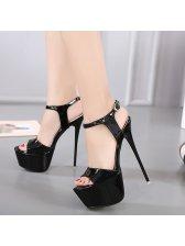 Classic Look Open Toe Stiletto Sandals