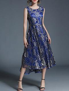 Online Buy Floral Prints Lace Evening Dress