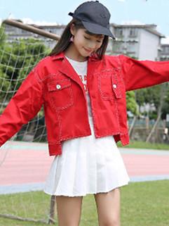 Stylish Chest Pocket Red Jacket Short Coat