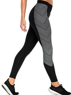 Striped Print Skinny Yoga Legging Exercise Pants