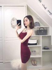 Metal Straps Skinny Bodycon Sexy Dress