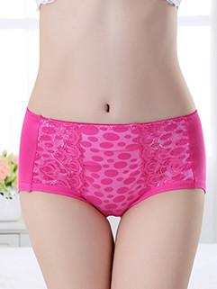 Smooth Lace Detail Polka Dots Panties