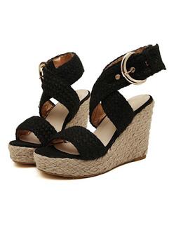 Hot Sale Cross Belt Wedge Sandals