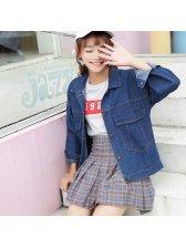 Korean BF Stylish Cardigan Denim Short Coat