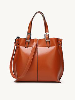 Fashion Solid Bucket One Shoulder Bag