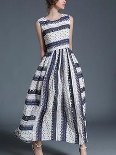 Boho Stylish Pleated Maxi Dress Online