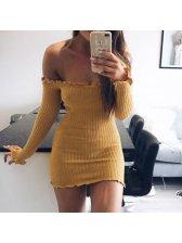 Sexy Off Shoulder Long Sleeve Mini Dress