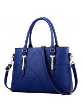 Fashion Solid Geometric Pattern Handbag(3-4 Days Delivery)
