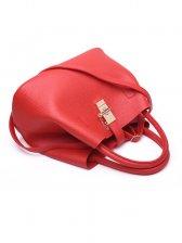 Fashion Solid Metal Hasp Handbag