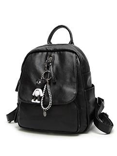 Simple Design Little Bear Pendant Backpack