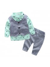 Star Printed Formal 3 Piece Baby Boys Suit