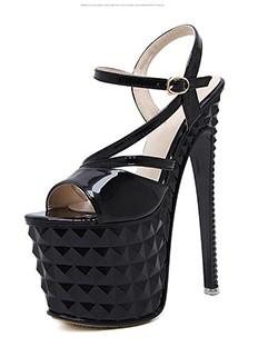 Multi Straps Solid Super High Stiletto Sandals