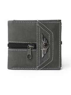 Vintage Zipper Three Fold Personalized Wallet For Men