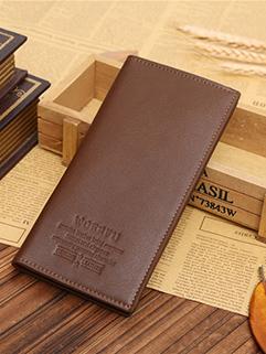 Letter Pattern Three Fold Long Wallet For Men