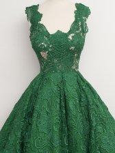 Vogue Designer Sleeveless Lace Fluffy Dress
