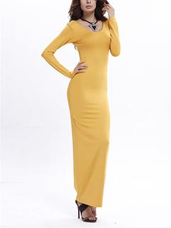Euro Sexy Solid Slim Wrap Wholesale Full Length Maxi Dress