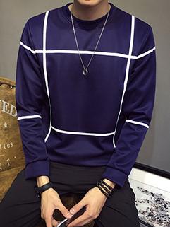 Contrast Color Long Sleeve Fall Sweatshirt