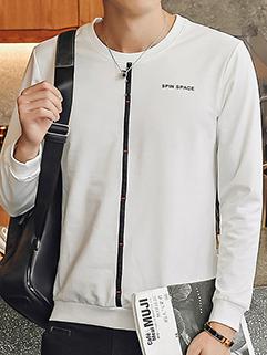 Chic O Neck Long Sleeve Sweatshirt