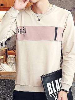 Chinese Prints Long Sleeve Men Sweatshirt