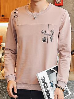 Factory Outlet Prints O Neck Sweatshirt